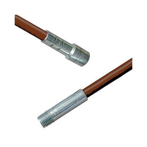 72'' Fiberglass Chimney Brush Rod 1/4'' NPT, .350 Diameter
