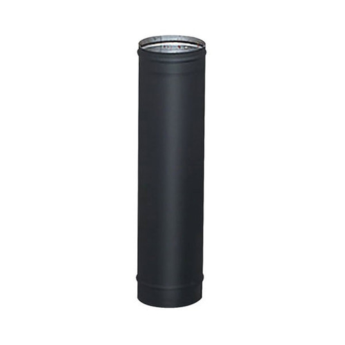 6'' x 24'' HeatFab Single Wall Black Stove Pipe - 2605B