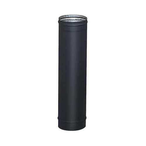 6'' x 48'' HeatFab Single Wall Black Stove Pipe - 2608B