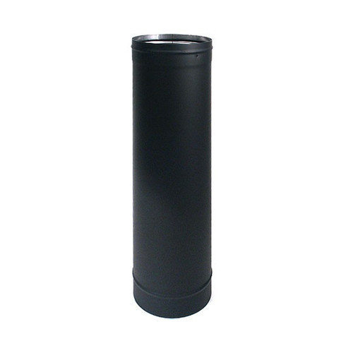 7'' x 24'' HeatFab Single Wall Black Stovepipe - 2705B