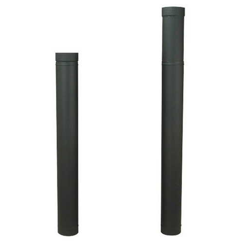 7'' HeatFab 38'' to 70'' Adjustable Black Stovepipe - 2706B