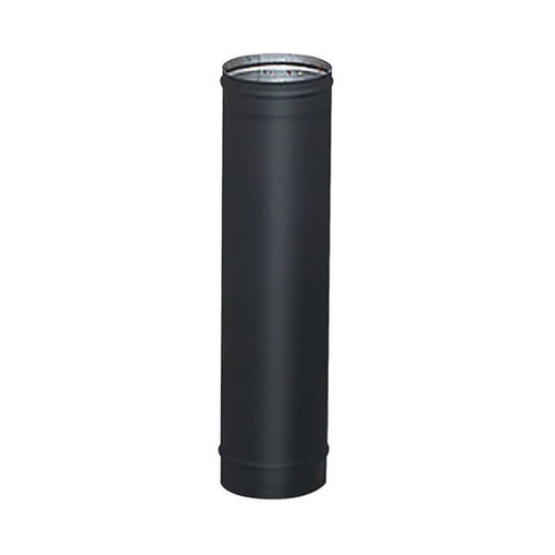 7'' x 48'' HeatFab Single Wall Black Stovepipe