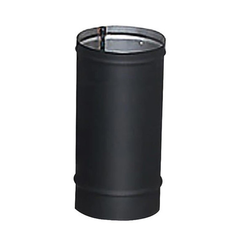 8'' x 12'' HeatFab Single Wall Black Stovepipe - 2802B