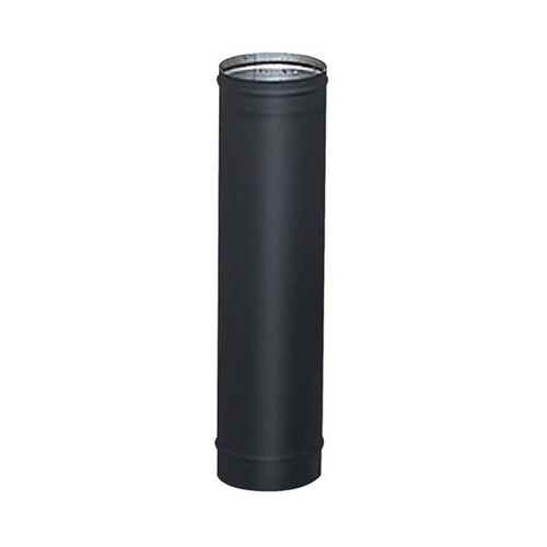 8'' x 24'' HeatFab Single Wall Black Stovepipe - 2805B