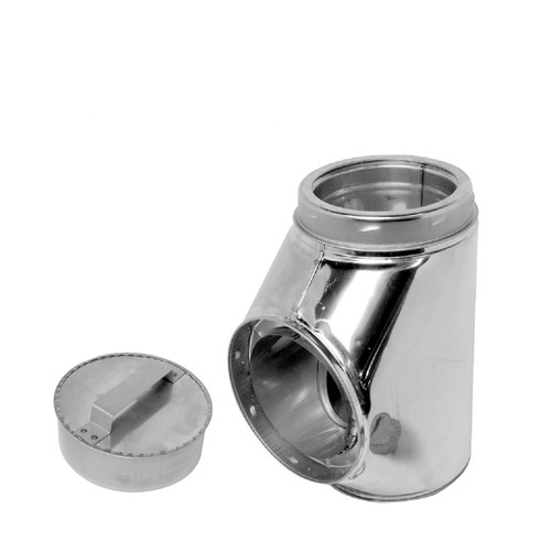 6'' Selkirk Stainless Insulated Tee With Tee Plug - 206100