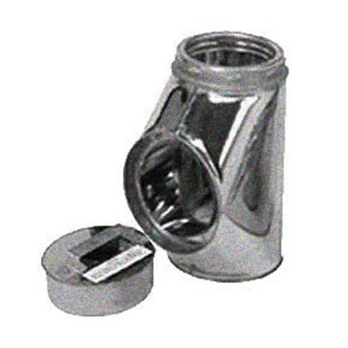8'' Selkirk Galvanized Insulated Tee With Tee Plug - 208100G
