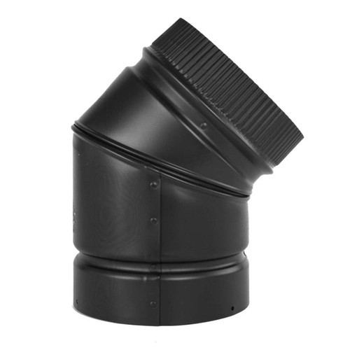 8'' DSP Double Wall 45Degree Black Elbow - DSP-8E4