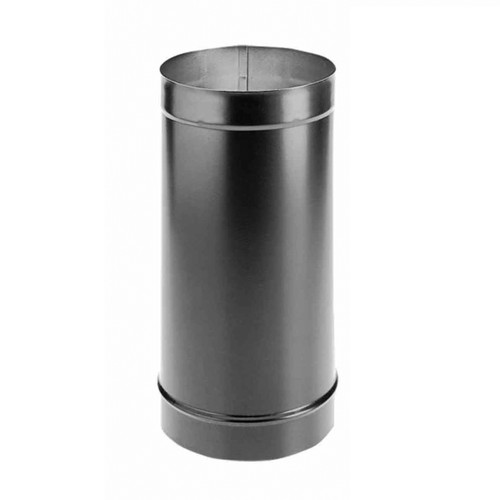 10'' x 24'' DuraBlack Single-Wall Black Stove Pipe - 10DBK-24