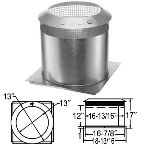 10'' DuraChimney II Attic Insulation Shield - 10DCA-IS