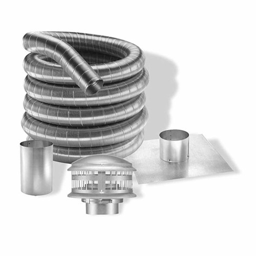 3'' DuraFlexAL 35' Aluminum Gas Chimney Liner Kit - 3DFA-35K