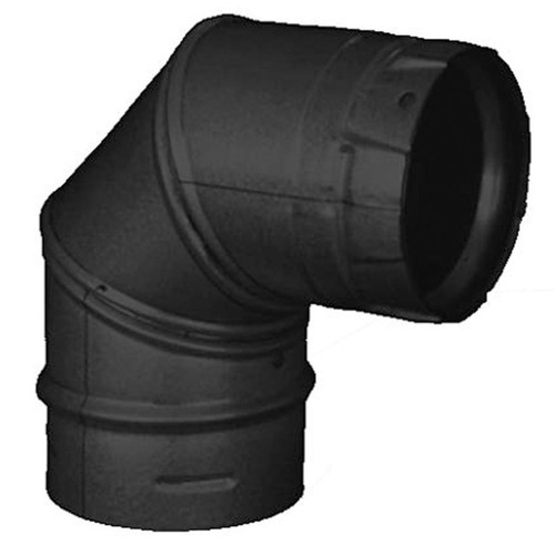 3'' PelletVent Pro Black 90 Degree Elbow - 3PVP-E90B