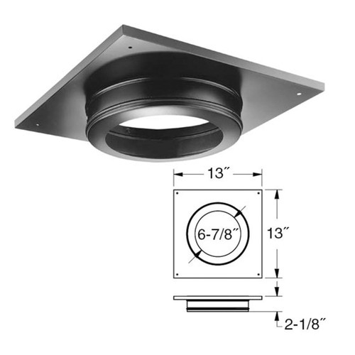 3'' PelletVent Pro Ceiling Support/Wall Thimble Cover - 3PVP-WTC