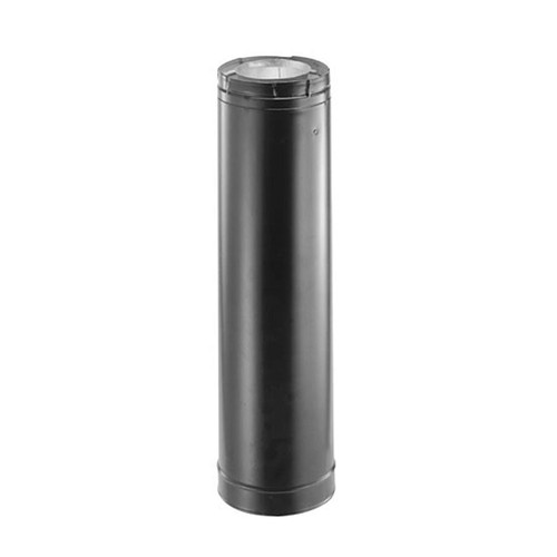 4'' x 6 5/8'' DirectVent Pro 24'' Black Chimney Pipe