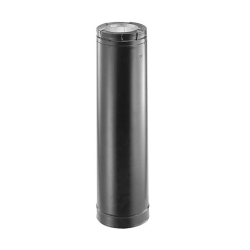 4'' x 6 5/8'' DirectVent Pro 60'' Black Chimney Pipe