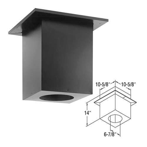 4'' x 6 5/8'' DirectVent Pro Cathedral Ceiling Support Box - 46DVA-CS