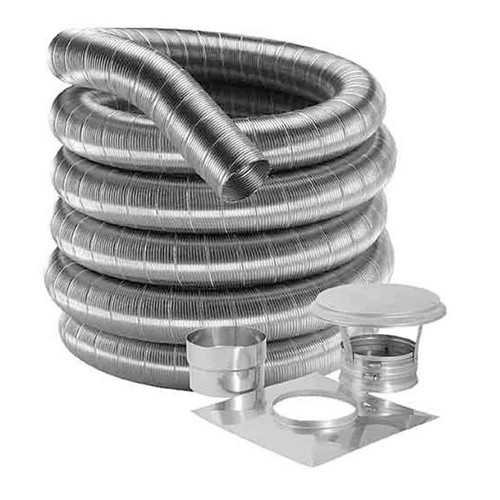 4'' DuraFlex 316 Basic Kit with 35' Stainless Steel Flexible Chimney Liner - 4DF316-35K