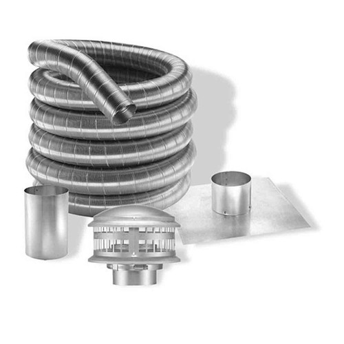 4'' DuraFlexAL 35' Aluminum Gas Chimney Liner Kit - 4DFA-35K