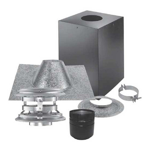 4'' PelletVent Pro Cathedral Ceiling Vertical Kit - 4PVP-KVB