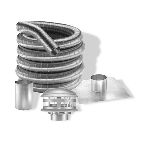 5'' DuraFlexAL 25' Aluminum Gas  Chimney Liner Kit - 5DFA-25K