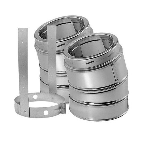 5'' DuraTech 15 Degree Stainless Steel Elbow Kit - 5DT-E15KSS