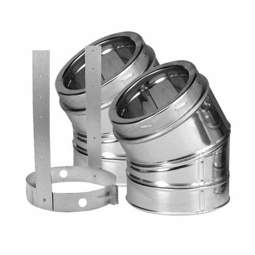 5'' DuraTech 30 Degree Stainless Steel Elbow Kit