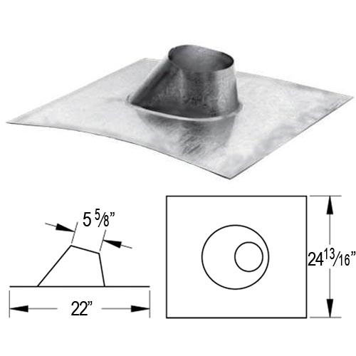 5'' DuraVent B Vent Metal Roof Flashing - 5GVFDSA