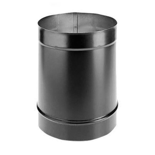 6'' x 12'' DuraBlack Single-Wall Black Stove Pipe