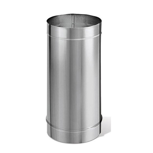 6'' x 12'' DuraBlack Stainless Steel Single-Wall Stove Pipe - 6DBK-12SS