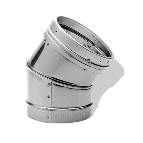 6'' DuraLiner 45 Degree Stainless Steel Elbow - 6DLR-E45SS
