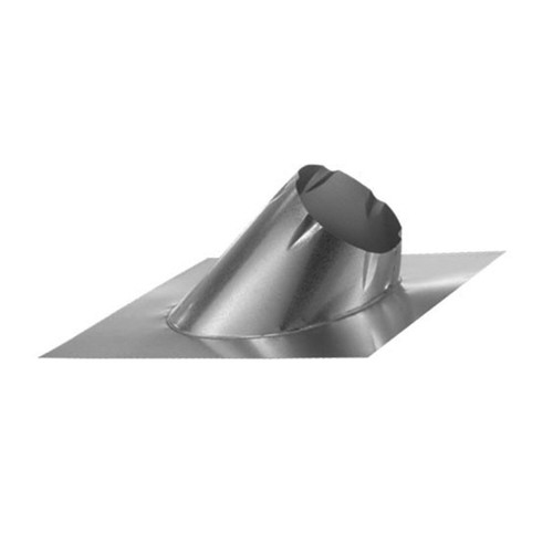 6'' DuraTech 0/12 - 6/12 Large Base Adjustable Roof Flashing - 6DT-F6L