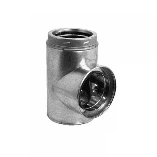 6'' DuraTech Stainless Steel Standard Tee with Cap - 6DT-STSS
