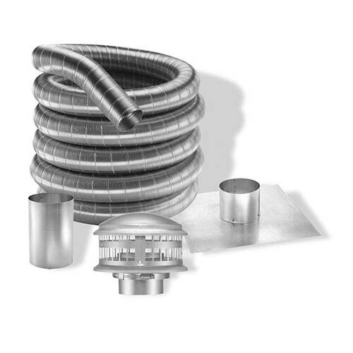 7'' DuraFlexAL 35' Aluminum Gas Chimney Liner Kit - 7DFA-35K
