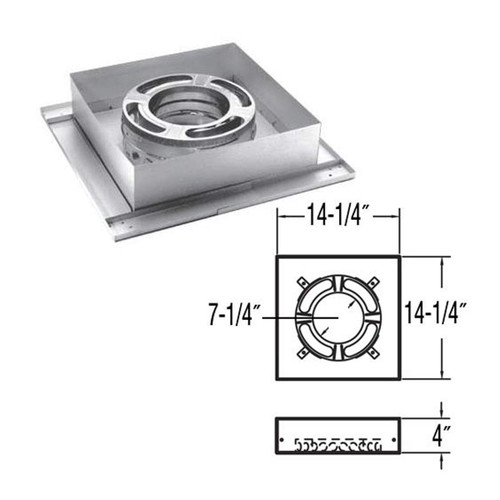 7'' DuraPlus Flat Ceiling Support - 7DP-FCS
