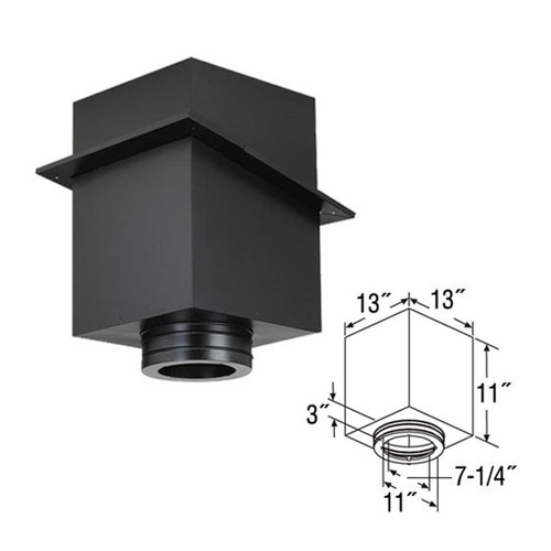 7'' DuraTech 11'' Square Ceiling Support Box - 7DT-CS11