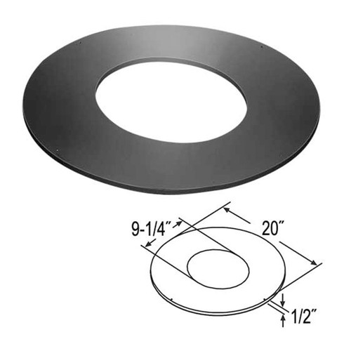 7'' DuraTech 10/12 - 12/12 Roof Support Trim Collar - 7DT-RSTC12