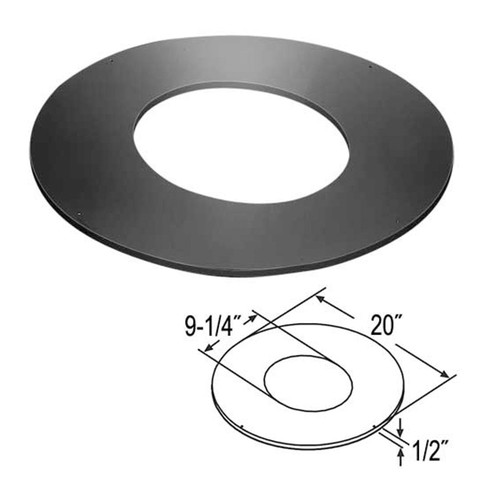 7'' DuraTech 7/12 - 9/12 Roof Support Trim Collar - 7DT-RSTC9