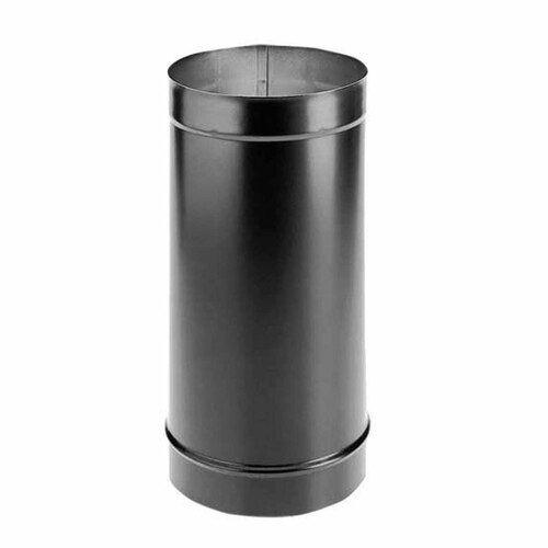 8'' x 12'' DuraBlack Single-Wall Black Stove Pipe - 8DBK-12
