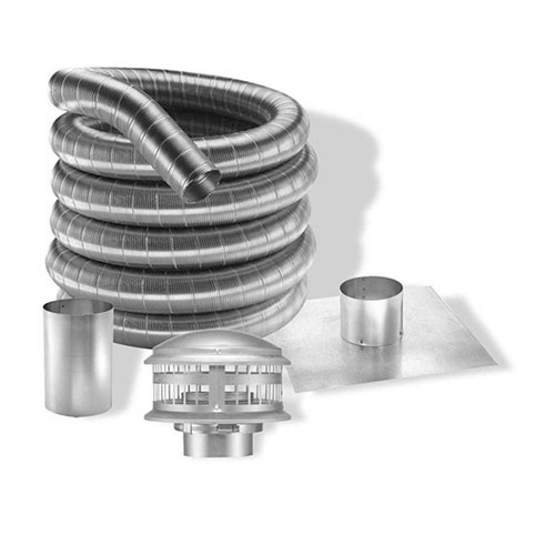 8'' DuraFlexAL 25' Aluminum Gas Chimney Liner Kit - 8DFA-25K