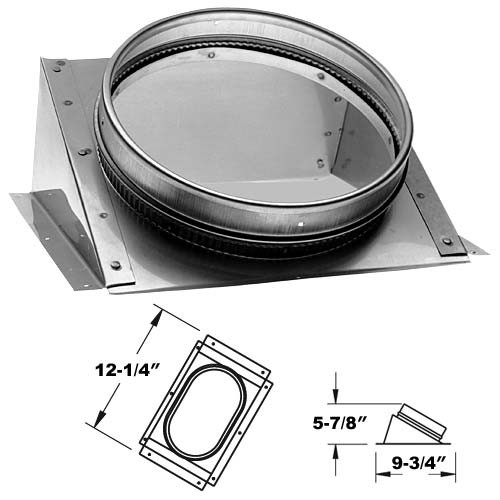8'' DuraLiner 30 Degree Round-to-Oval Connector - 8DLR-CNRO