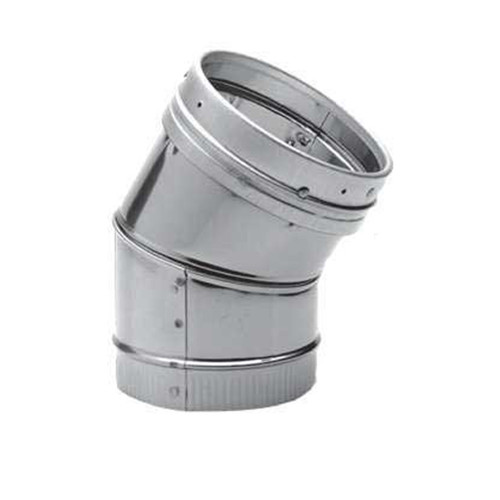 8'' DuraLiner 30 Degree Stainless Steel Elbow - 8DLR-E30SS
