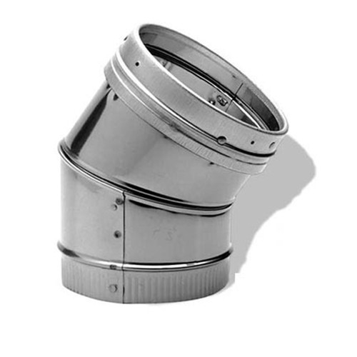8'' DuraLiner 45 Degree Stainless Steel Elbow - 8DLR-E45SS