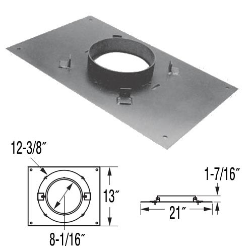 8'' DuraPlus 13'' x 21'' Transition Anchor Plate - 8DP-AP13X21