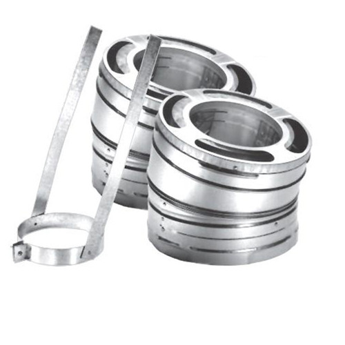 8'' DuraPlus 15 Degree Stainless Steel Elbow Kit - 8DP-E15SS