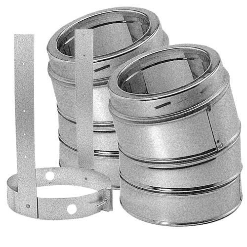 8'' DuraTech 15 Degree Galvanized Elbow Kit - 8DT-E15K
