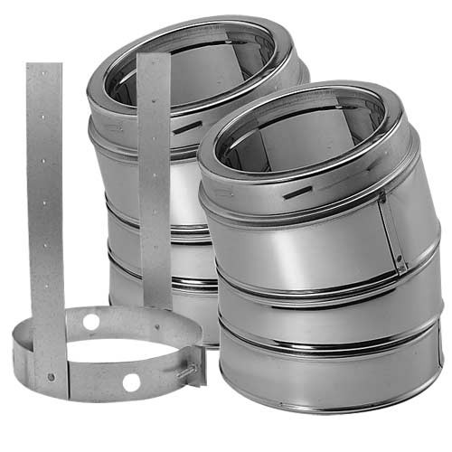 8'' DuraTech 15 Degree Stainless Steel Elbow Kit - E15KSS