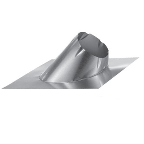 8'' DuraTech 0/12 - 6/12 Large Base Adjustable Roof Flashing - 8DT-F6L