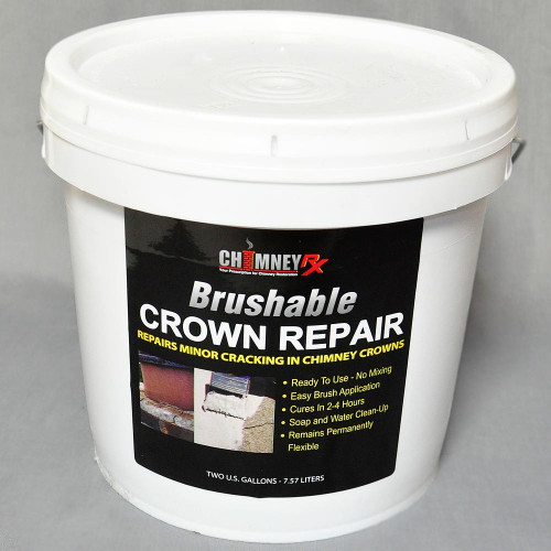 ChimneyRx Brushable Masonry Fireplace Crown Repair - 2 Gallon