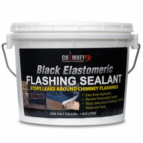 ChimneyRx Elastomeric Black Masonry Fireplace Flashing Sealant - 1/2 Gallon
