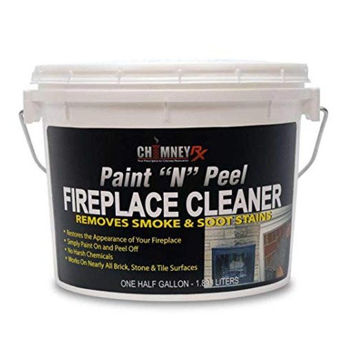 ChimneyRX Paint and Peel Fireplace Cleaner - 1/2 Gallon