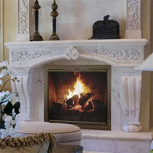 Chateau Tuscan Custom Masonry Fireplace Door